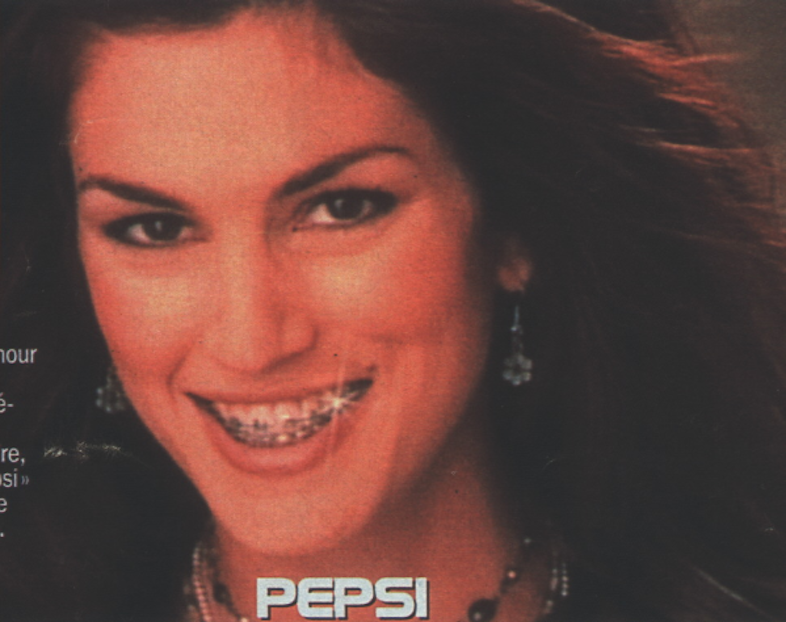 Cindy Crawford for a Pepsi campaign.
