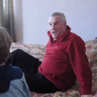 This Heartwarming Video Of A Grandson Surprising His Grandfather Will Totally Make You Cry