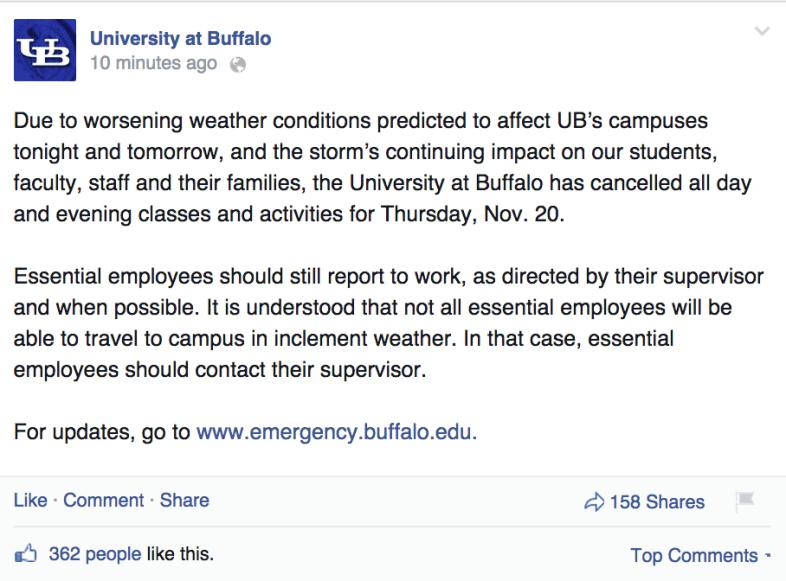 Facebook / University At Buffalo
