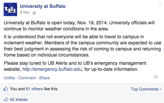 You Won't Believe What University At Buffalo Is Making Their Students Do Today(UPDATED)