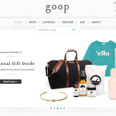 Your Guide To Gwyneth Paltrow's Holiday Gift Guide