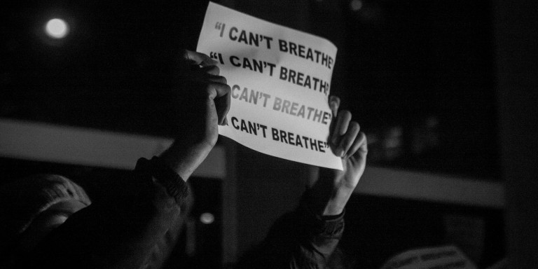 Officer Who Choked Eric Garner Claims It Was An Accident, Feared He'd Fall Through GlassWindow
