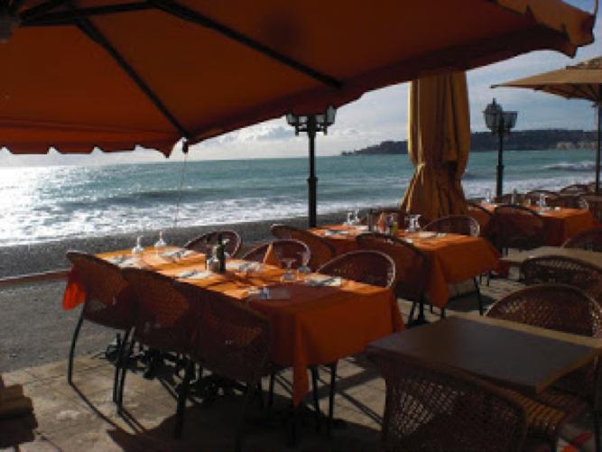 Small café by the sea