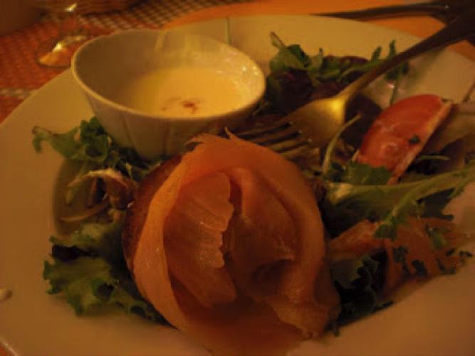 Norwegian Salmon and Cream Cheese salad