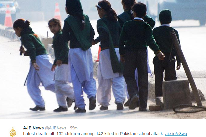 132 Children Killed By Taliban In Pakistani School Massacre