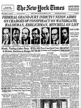 early march 1974 nyt watergate indictments