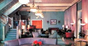 early march 74 hotel lobby