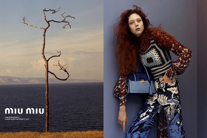 Natalie Westling for Miu Miu Resort 2015 Campaign by Jamie Hawkesworth.