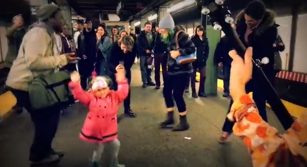 Why A Little Girl Dancing In The Subway Is Our New SantaClaus