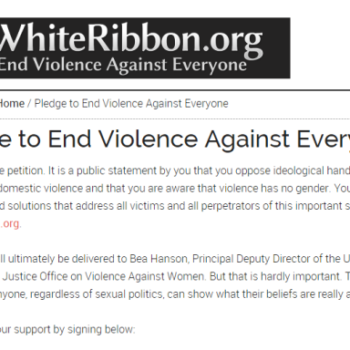 White Ribbon For Abuse Awareness