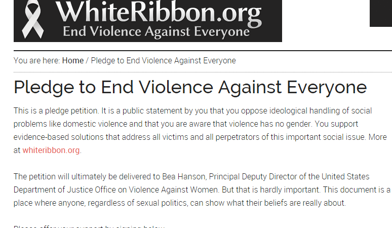 White Ribbon For Abuse Awareness