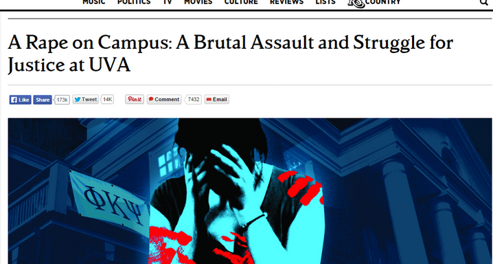 """Rolling Stone Says Trust In Alleged Gang Rape Victim """"Was Misplaced,"""" Retreats FromStory"""