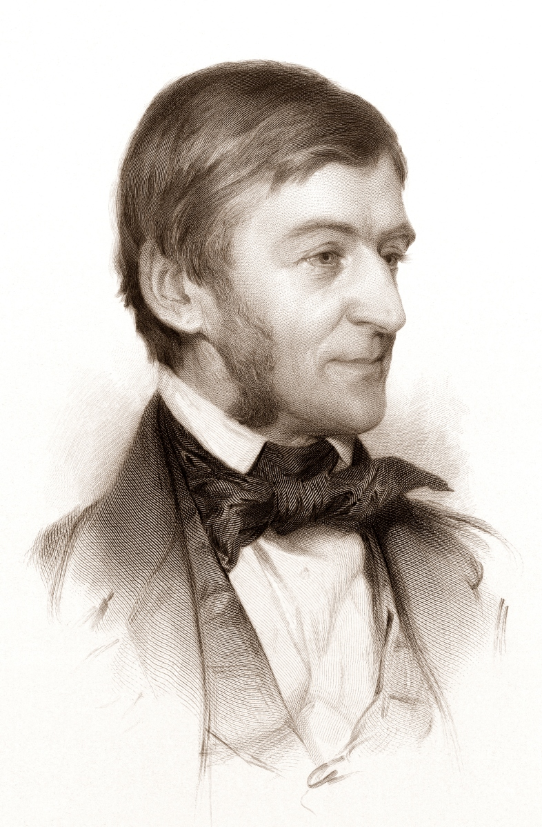 """ [Ralph Waldo Emerson, head-and-shoulders portrait, facing right] / engraved and published by S.A. Schoff ... from an original drawing by Sam W. Rowse in the possession of Charles Eliot Norton, Esq. ; S.A. Schoff."" Engraving."