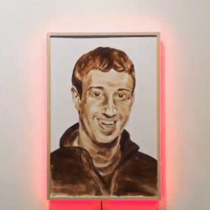 Brooklyn Artist KATSU Paints Facebook Mogul Mark Zuckerberg Using Human Poop