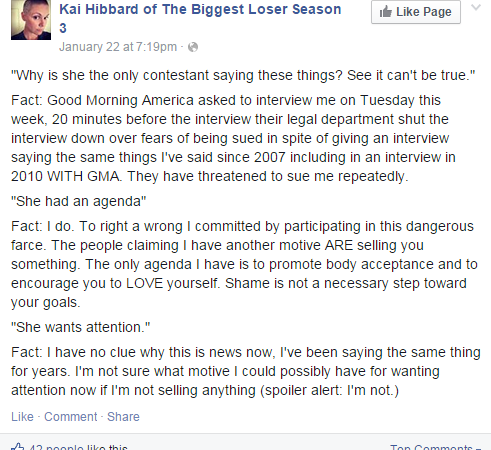Former Contestant Reveals The Terrifying Secrets Behind NBC's 'The BiggestLoser'