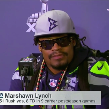Marshawn Lynch Finally Speaks To The Media – And It's The Takedown Everyone's Been Waiting For