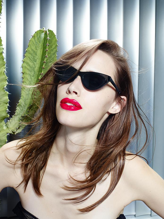 Adam Selman x Le Spec sunglasses campaign.