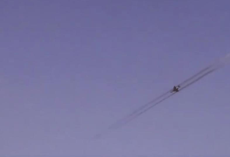 U.S. F/A-18 firing at ground targets