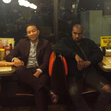 what chrissy teigen, john legend, kanye west and kim kardashian were thinking while dining at a waffle house