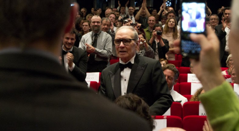 Ennio Morricone in Cannes, by LucaChp, licensed under CC  BY-SA 3.0