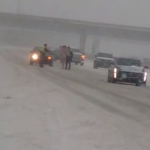 Watch What Happens When This Naked Man Strolls Down The Interstate In A Cowboy Hat During A Blizzard