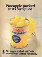 1974 dole pineapple ad