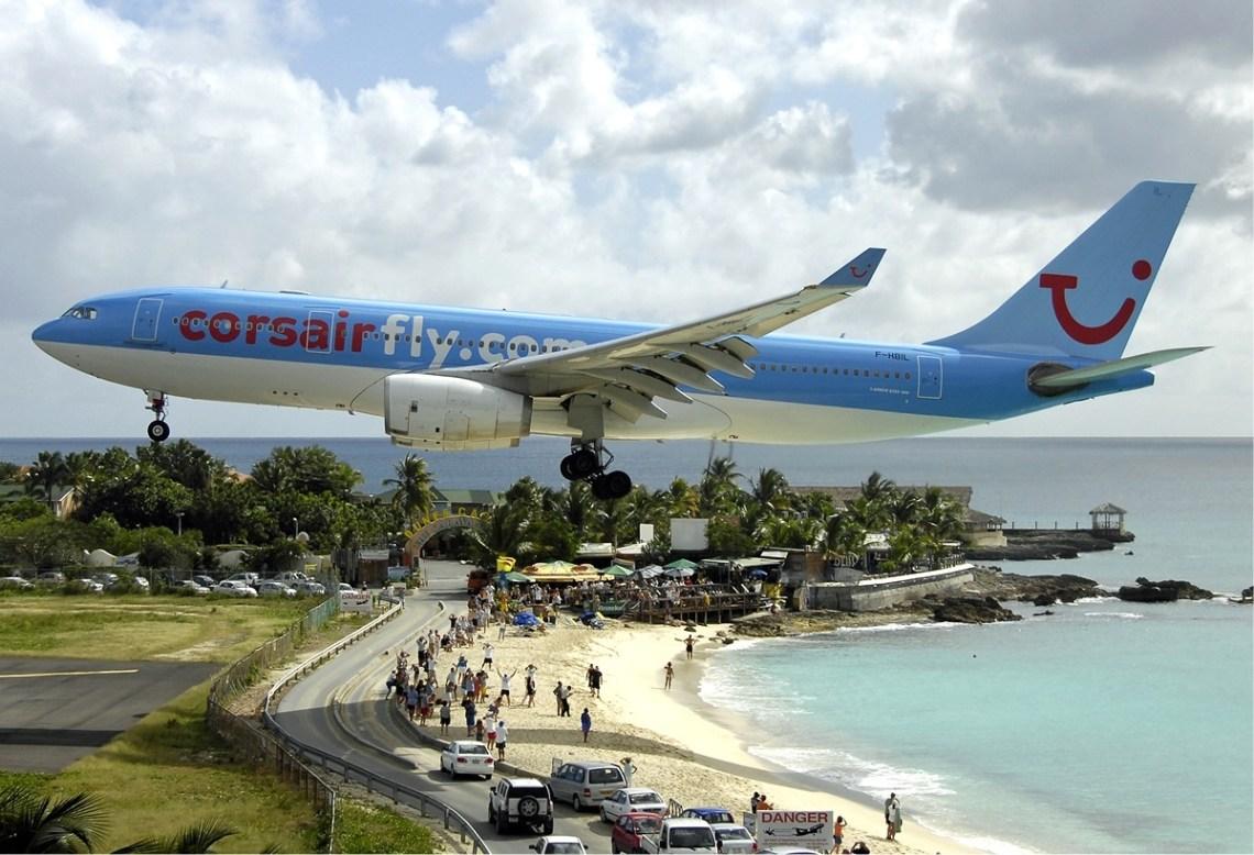Corsair_Airbus_A330_at_SXM_Bidini