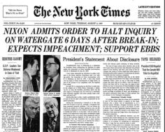 Early August 74 Aug 5 Nixon admits NYT
