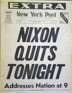 Early August 74 Aug 8 NY Post Nixon quits