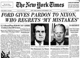 early sept 74 ford pardons nixon