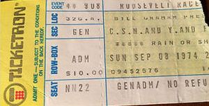 early sept 74 ticketron