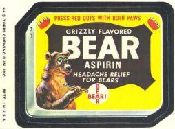 grizzly bear aspirin