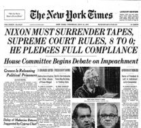 late july 74 july 24 nyt supreme court nixon tapes