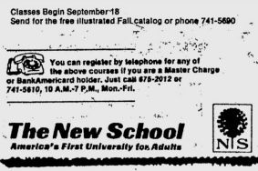 new school ad 1974