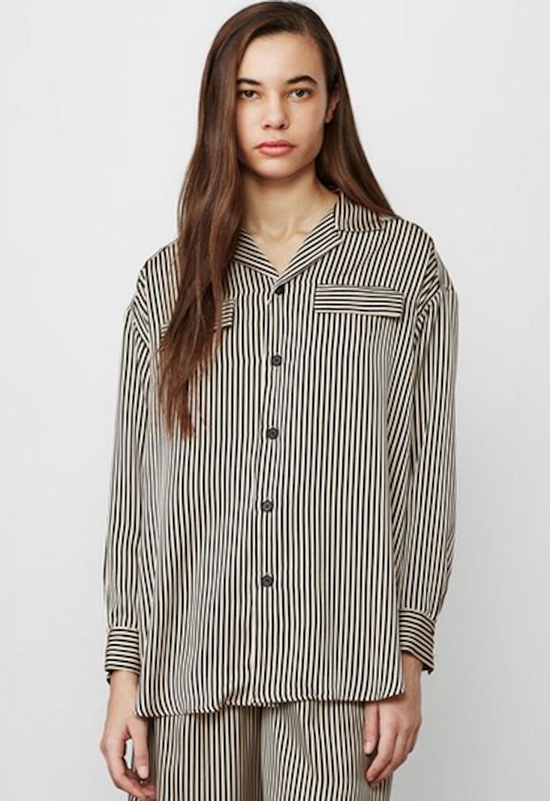 G.V.G.V. striped satin pajama shirt / OpeningCeremony.us.
