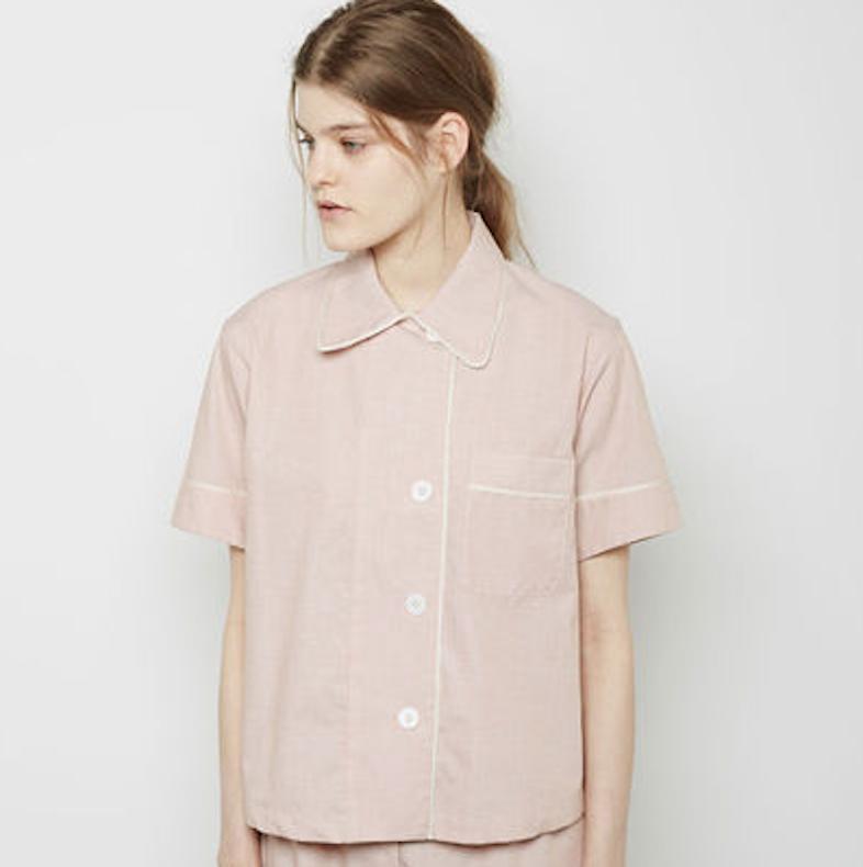 Araks Shelby short sleeve pajama shirt / LaGarconne.com.