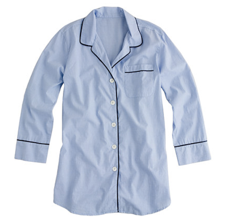 J. Crew nightshirt in end-on-end cotton / Jcrew.com.