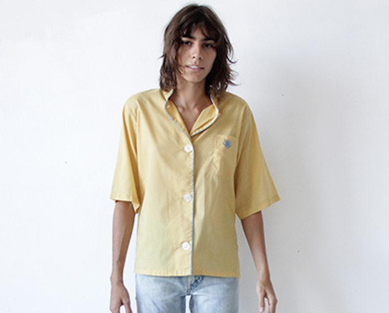 pajama shirt / WhereIWasFrom.com.