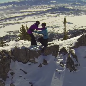 This Man Proposed To His Girlfriend In The Most Epic Way Possible — On A Snowy Mountain While Being Filmed By A Drone