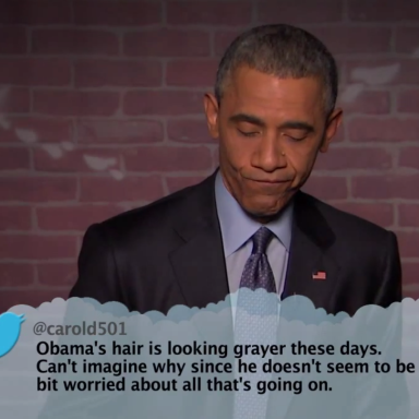 Watch President Obama Read Mean Tweets About Himself On Jimmy Kimmel's Show
