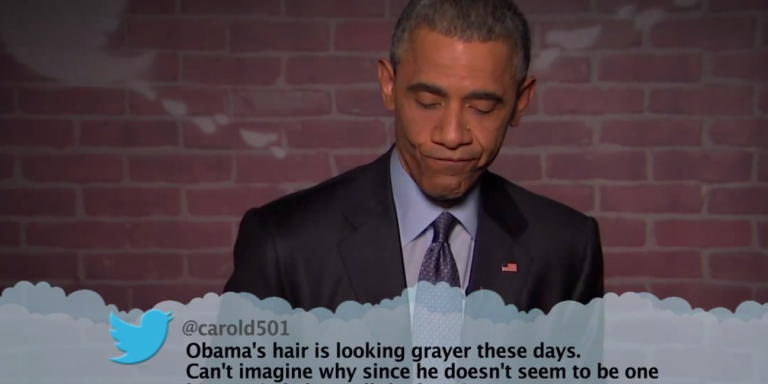 Watch President Obama Read Mean Tweets About Himself On Jimmy Kimmel'sShow