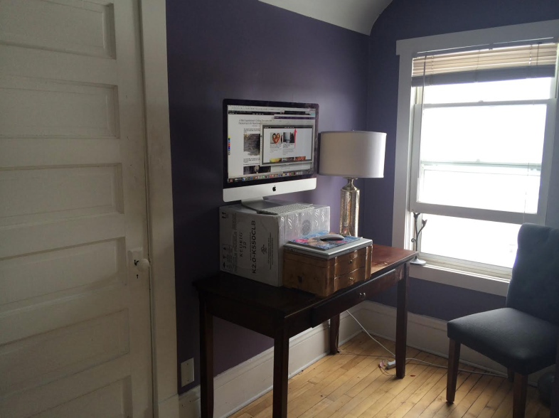 The boxes aren't minimalist, but they're staying until I buy a standing desk
