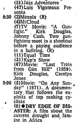 TV schedule aug 18 1974