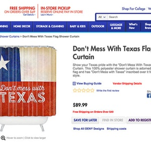 Bed Bath & Beyond Has No Idea What Texas' State Flag Looks Like (And Wants You To Pay $89.99 For It)
