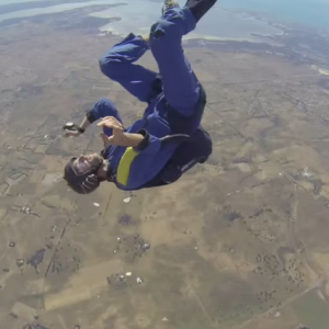 Skydiver Saves Seizing Man In Midair