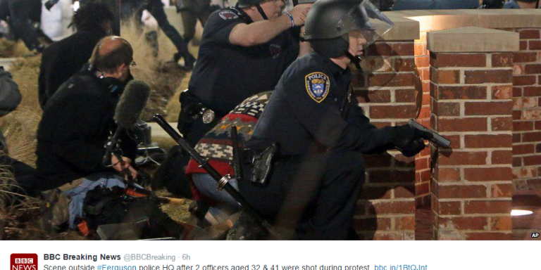 2 Police Officers Were Shot During A Protest In Ferguson LastNight