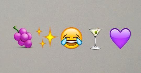 Marina's album emoji choices