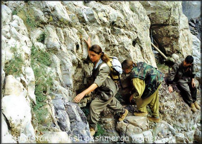 Female Peshmerga (Kurdish) fighters via Flick - jan Sefti