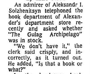 Alexander's Solzhenitsyn