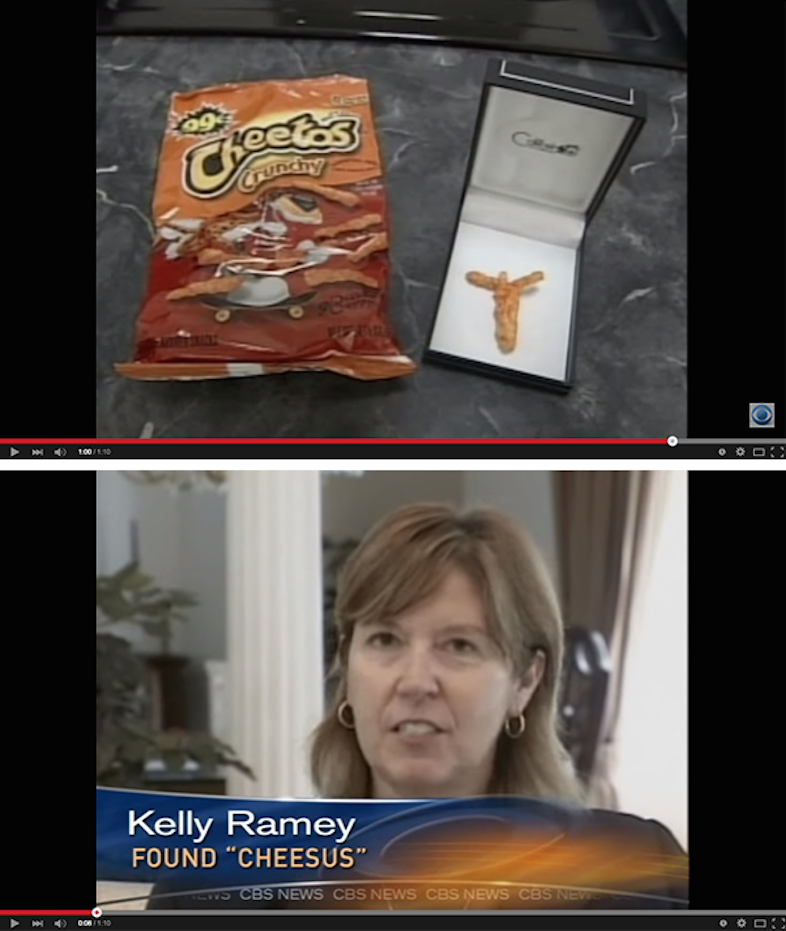 Kelly Rammy, who in 2008 says she found a Jesus icon in a bag of Cheetos.